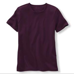{L.L.Bean} Purple Pima Cotton Crew Tee